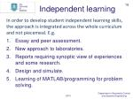 independent learning1
