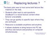 replacing lectures