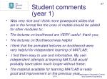 student comments year 1