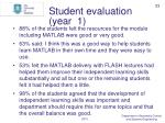 student evaluation year 1