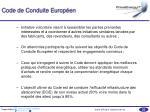 code de conduite europ en1