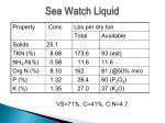 sea watch liquid