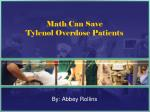 math can save tylenol overdose patients