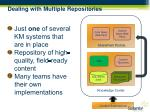 dealing with multiple repositories