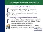 connecting education data and decisions