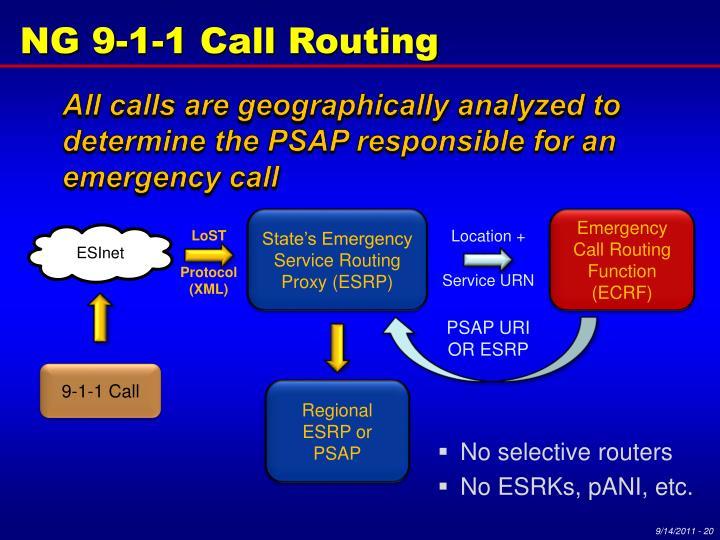 NG 9-1-1 Call Routing