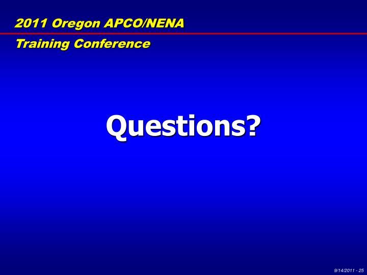 2011 Oregon APCO/NENA