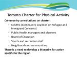 toronto charter fo r physical activity5