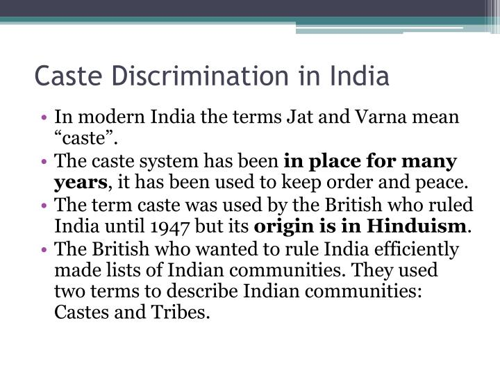 essay on caste discrimination in india Caste discriminations in india - india essay example india is an extreme diverse country with vast differences in geography, climate, cultures, languages and ethnicity across its expanse.
