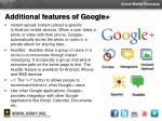 additional features of google