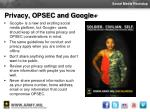 privacy opsec and google
