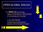open global dialog