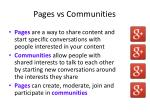 pages vs communities