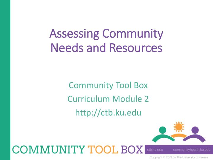 assessing community needs and resources n.