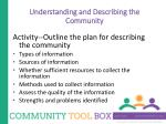 understanding and describing the community10
