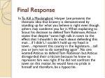 final response