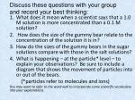 discuss these questions with your group and record your best thinking