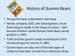 history of gummi bears