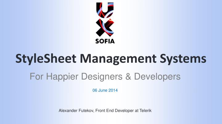 stylesheet management systems n.