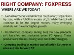 right company fgxpress