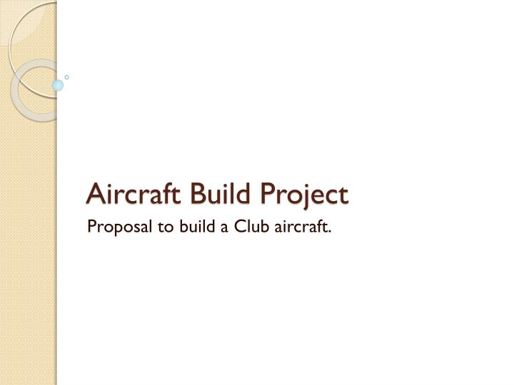 aircraft build project n.