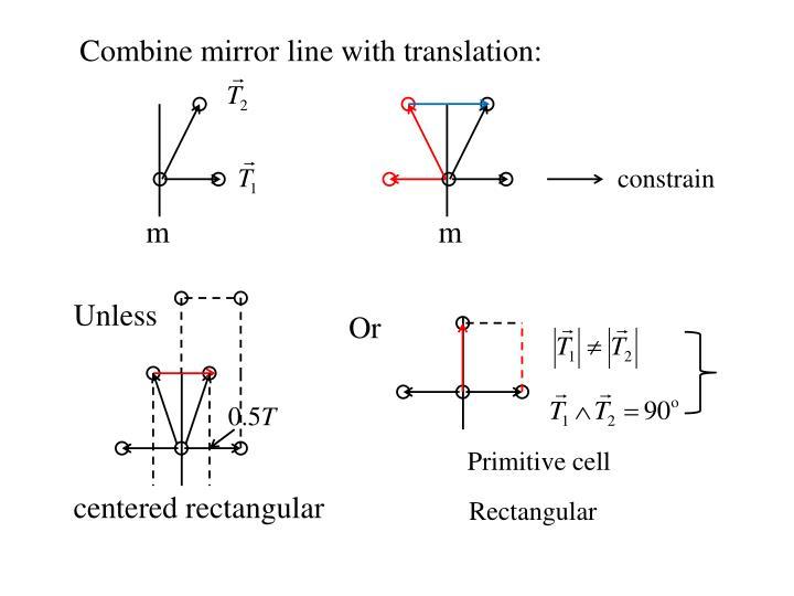 Combine mirror line with translation: