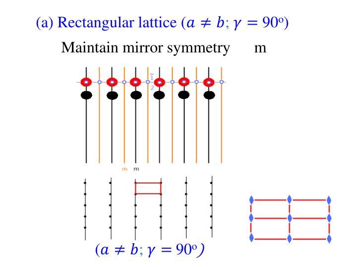 (a) Rectangular lattice (