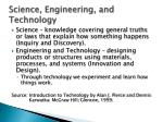 science engineering and technology