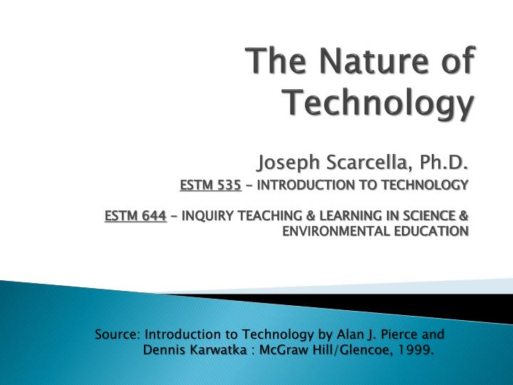 the nature of technology n.