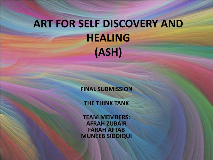 art for self discovery and healing ash n.