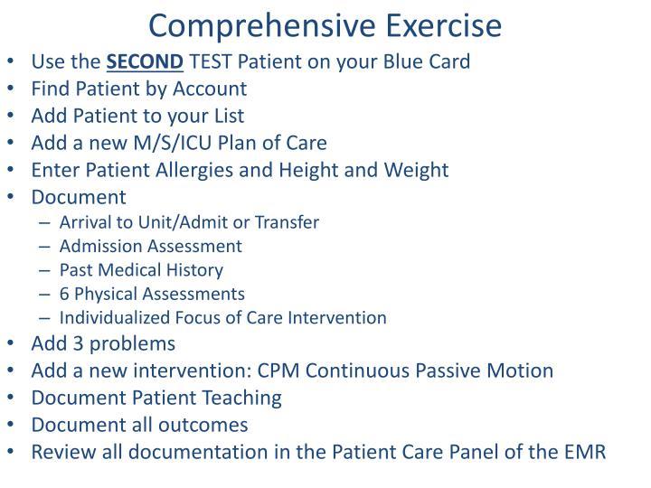 Comprehensive Exercise