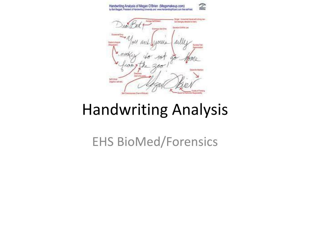 Ppt Handwriting Analysis Powerpoint Presentation Free Download Id 2127970