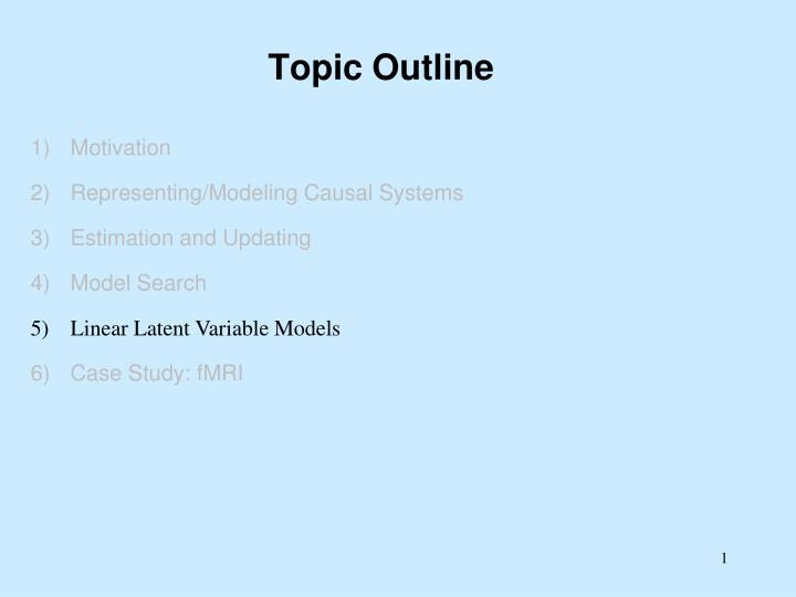 topic outline n.