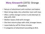 mary ainsworth 1973 strange situation