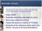 booktalks direct