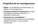 prop sitos de las investigaciones