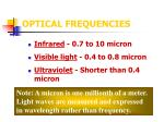 optical frequencies