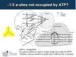 1 2 a sites not occupied by atp