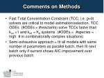 comments on methods
