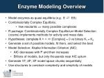 enzyme modeling overview