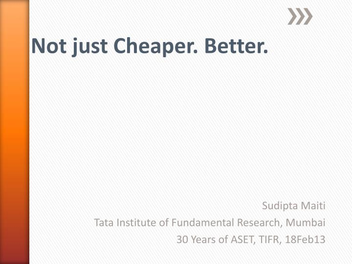 sudipta maiti tata institute of fundamental research mumbai 30 years of aset tifr 18feb13 n.