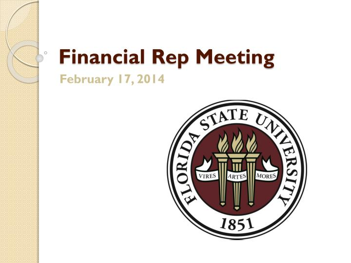 financial rep meeting n.