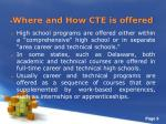 where and how cte is offered