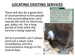 locating existing services3