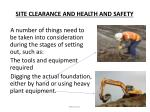 site clearance and health and safety