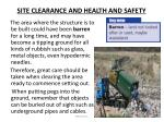 site clearance and health and safety1