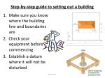 step by step guide to setting out a building