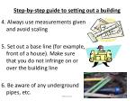 step by step guide to setting out a building1