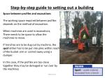 step by step guide to setting out a building13
