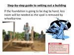 step by step guide to setting out a building14